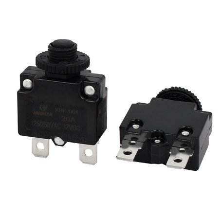 2pcs 20A  250V/125V DC 32V Circuit Breaker Current Overload Protector Switch