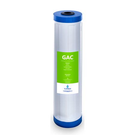 "Express Water – Granular Activated Carbon Replacement Filter – GAC Large Capacity Water Filter – Whole House Filtration – 5 Micron – 4.5"" x 20"" (Gac Granular Activated Carbon)"