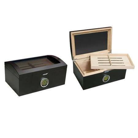 Black Finish Humidor - Prestige Import Group Portofino Cigar Humidor