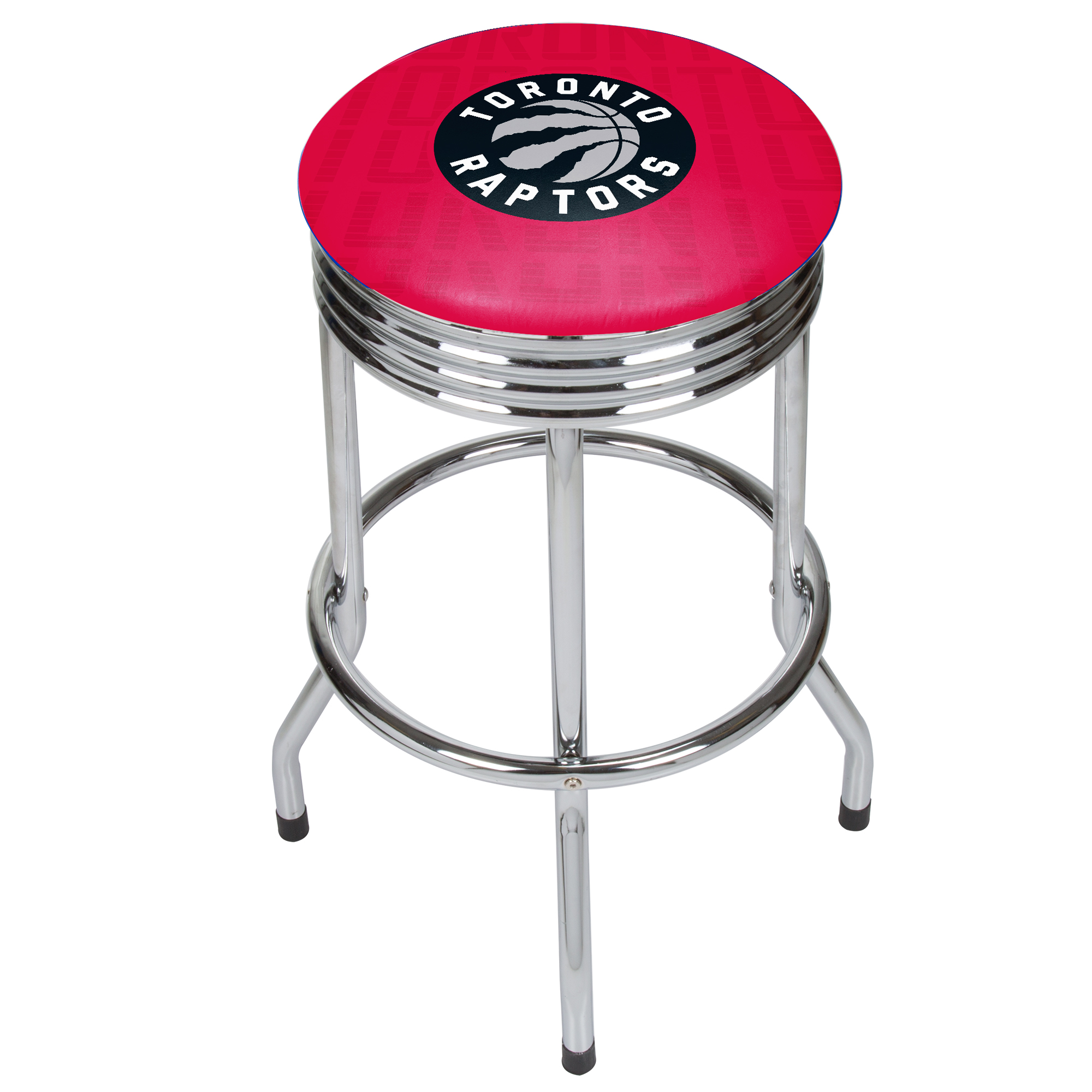 NBA Chrome Ribbed Bar Stool - City - Toronto Raptors