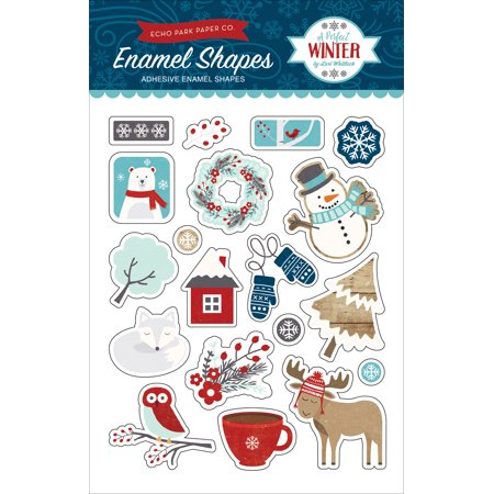 Adhesive Shapes (A Perfect Winter Adhesive Enamel Embellishments-Shapes)