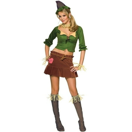 Scarecrow Flirty Adult Halloween Costume - Scarecrow Makeup Halloween