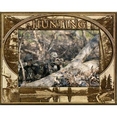 Giftworks Plus SPR2006 Hunting, Alder Wood Frame, 5 x 7 In thumbnail