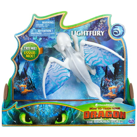 DreamWorks Dragons Light Fury Deluxe Dragon with Lights and Sounds