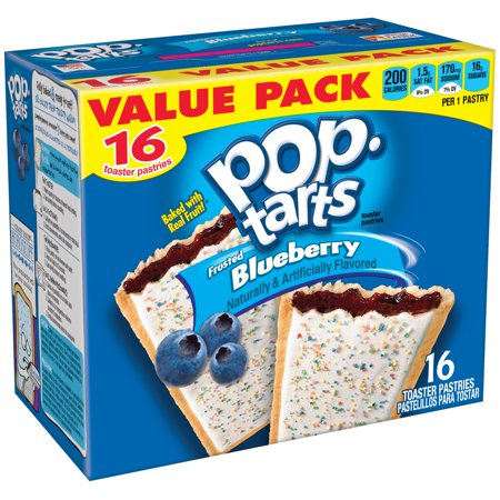 Kelloggs Pop Tarts Frosted Blueberry Value Pack 16Ct Toaster Pastries 29 3 Oz