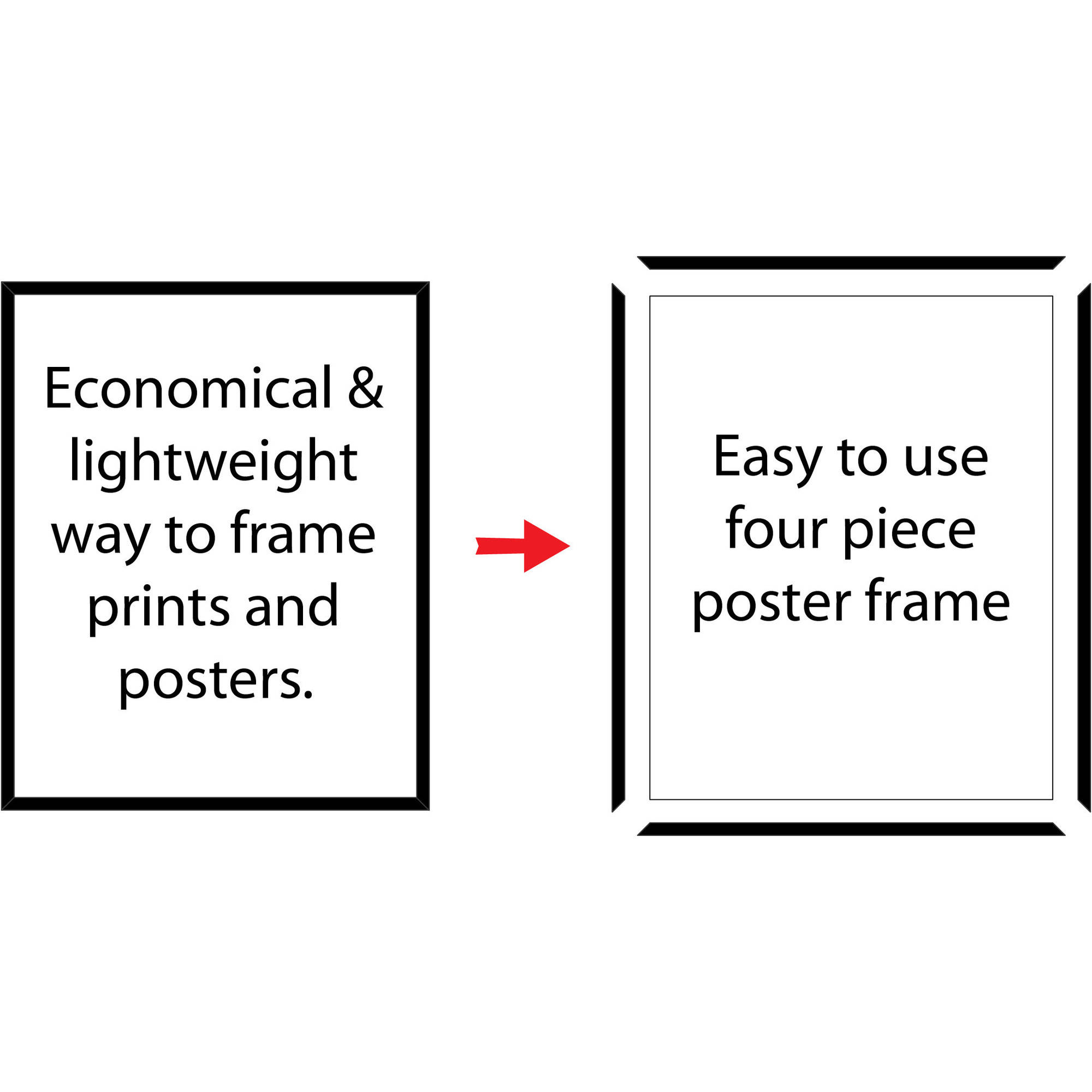 Mainstays 18x24 Basic Poster & Picture Frame, White, Set of 2 ...