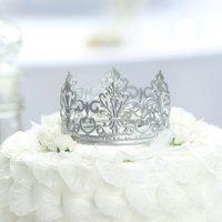 BalsaCircle 4-Inch Metal Crown Cake Topper Princess Kids Birthday Wedding Party Decorations