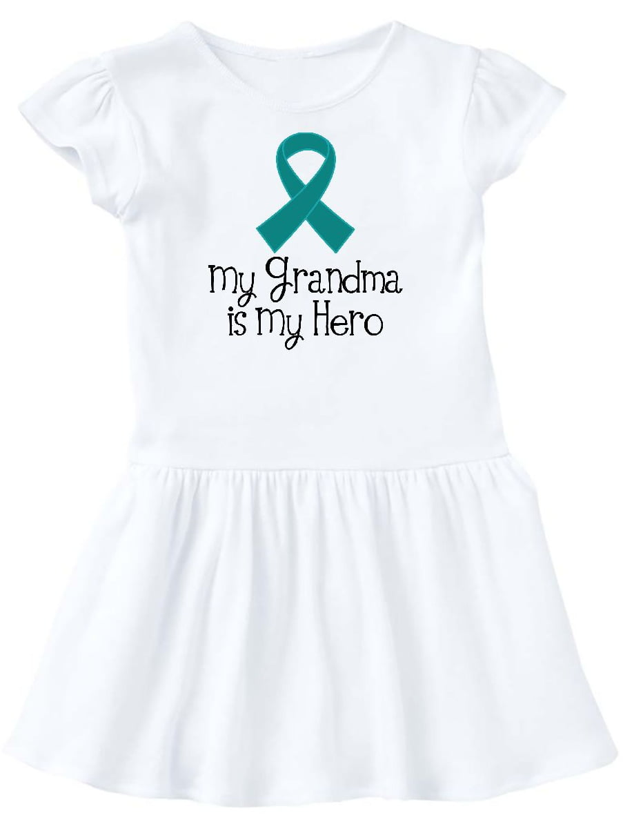 inktastic I Wear Teal and White for My Grammy Cervical Cancer Baby T-Shirt