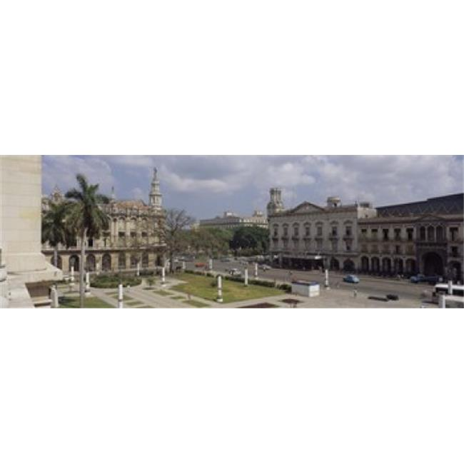 Panoramic Images PPI52708L High angle view of a theater  National Theater of Cuba  Havana  Cuba Poster Print by Panoramic Images - 36 x 12