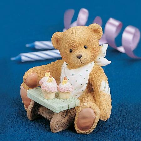 Cherished Teddies 911313 Three Cheers For You - Birthday Bear Age 3 Figurine