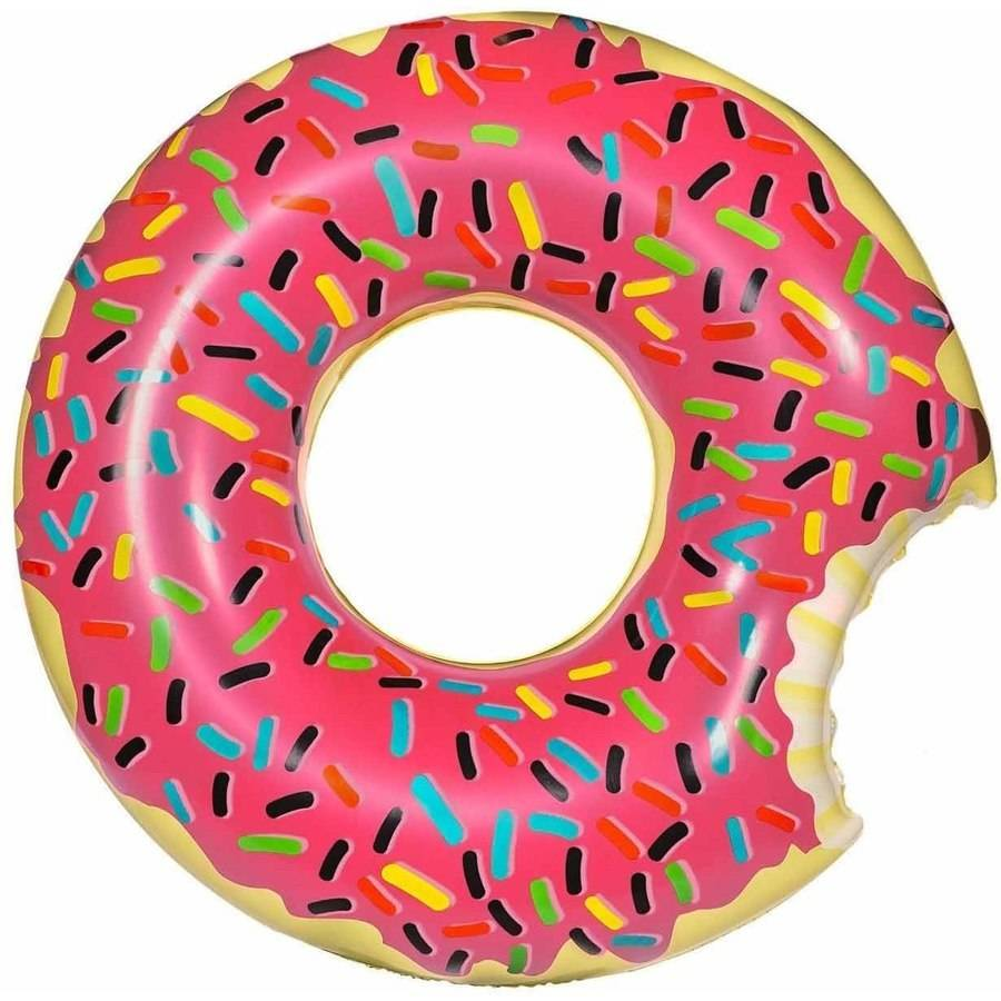 Inflatables Giant Frosted Donut Plastic Pool Float, 4' Wide