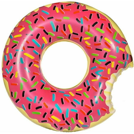 Inflatables Giant Frosted Donut Plastic Pool Float, 4' - Giant Inflatable Sports Balls