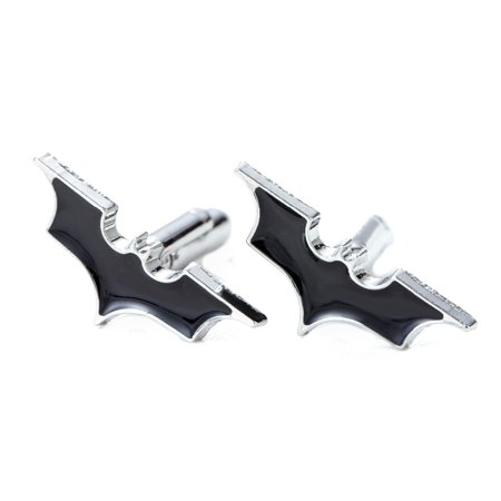 Batman Silver and Black Colored Superhero Men Cufflink Buttons, Cuff-1