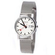 Women's A400.30351.16SBM 'Simply Elegant' White Dial Stainless Steel Mesh Bracelet Swiss Quartz Watch