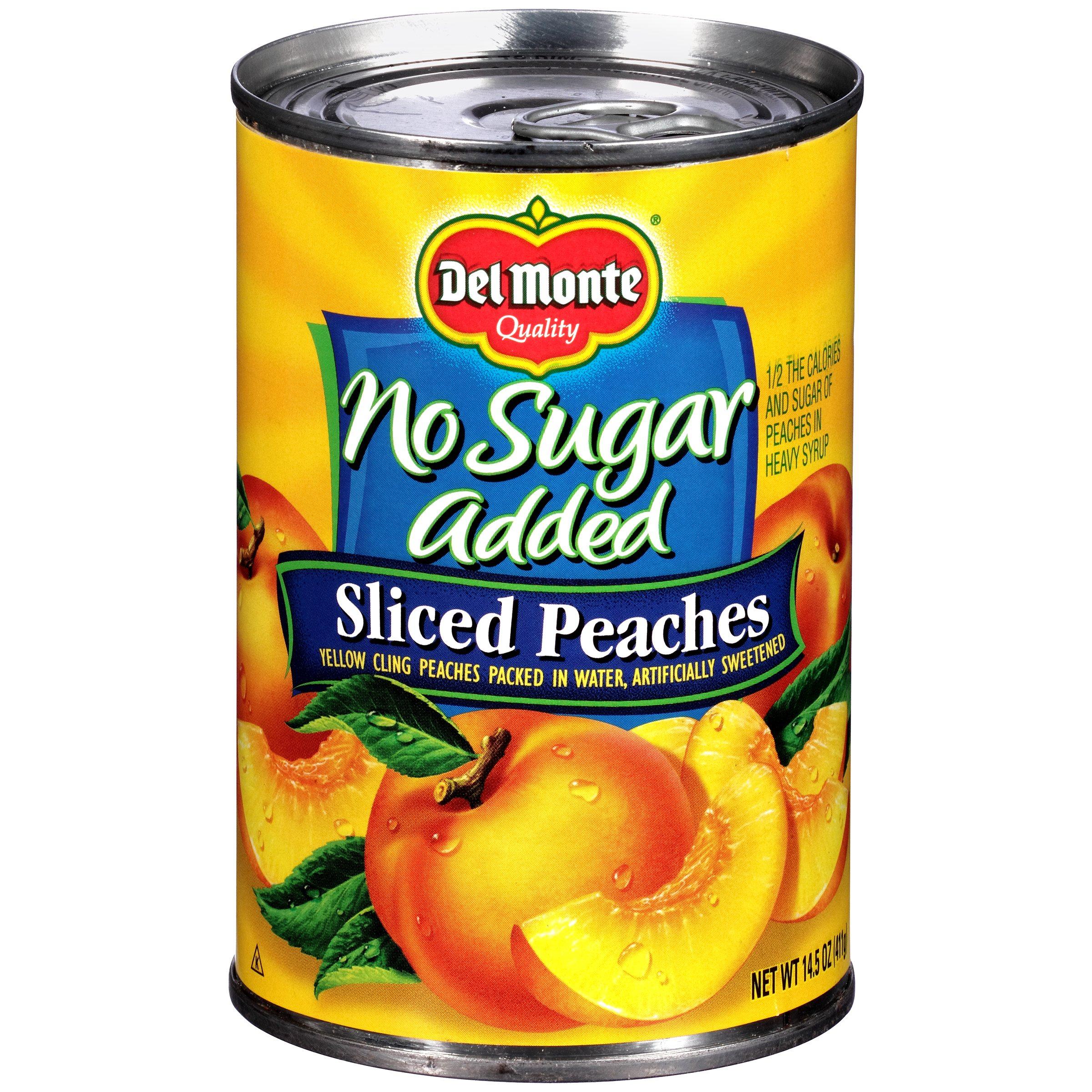 Del Monte® No Sugar Added Sliced Yellow Cling Peaches 14.5 oz. Can