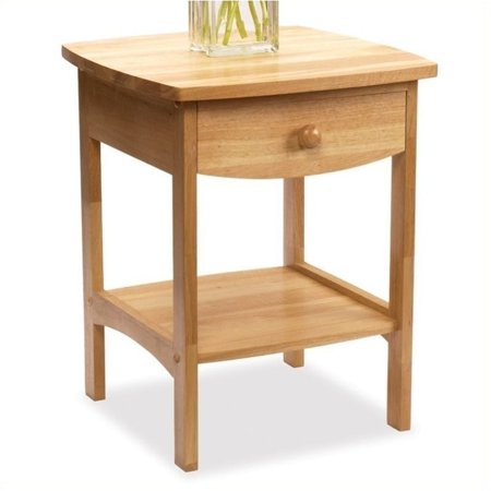 Kingfisher Lane Solid Wood End Table / Nightstand in Natural