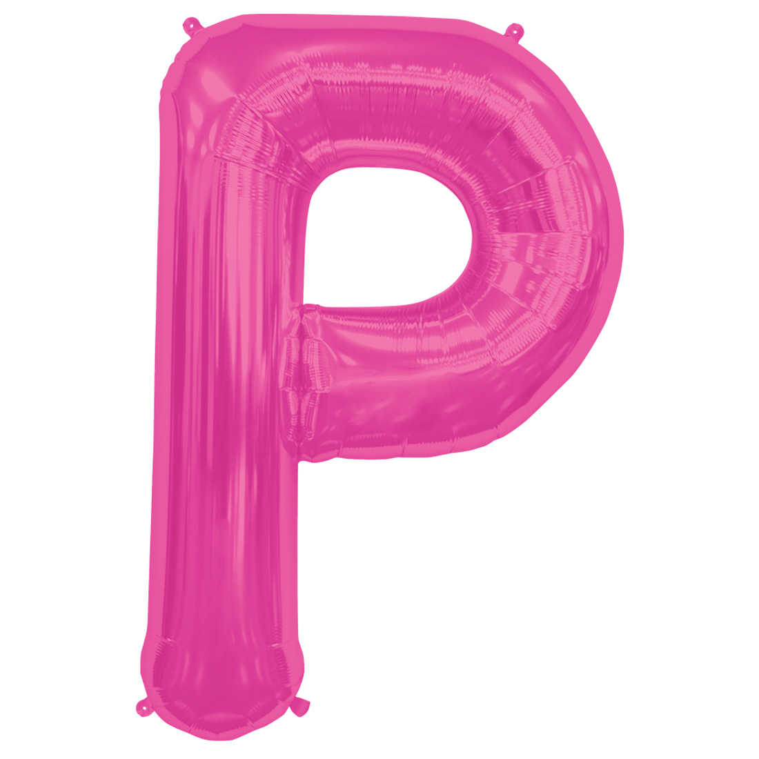"Northstar Alphabet Letter P Shape Solid Jumbo Helium 34"" Foil Balloon, Magenta"