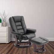 cloud mountain pu leather recliner chair and ottoman swivel lounge leisure living room furniture set. Interior Design Ideas. Home Design Ideas