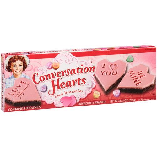 Little Debbie Conversation Hearts Iced Brownies, 5 ct, 8.27 oz