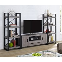 """Reclaimed Home Entertainment Center for TVs up to 65"""", Grey"""