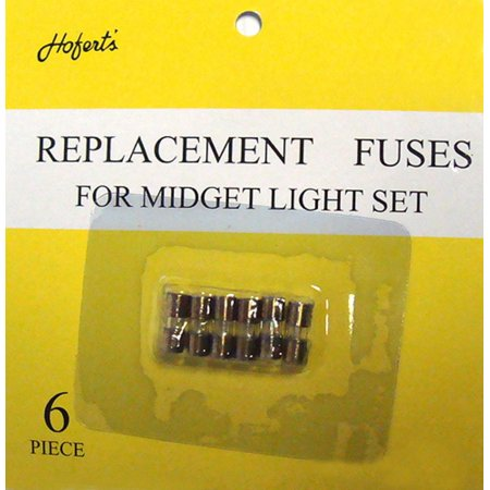 pack of 6 replacement fuses for mini christmas lights 3 amps