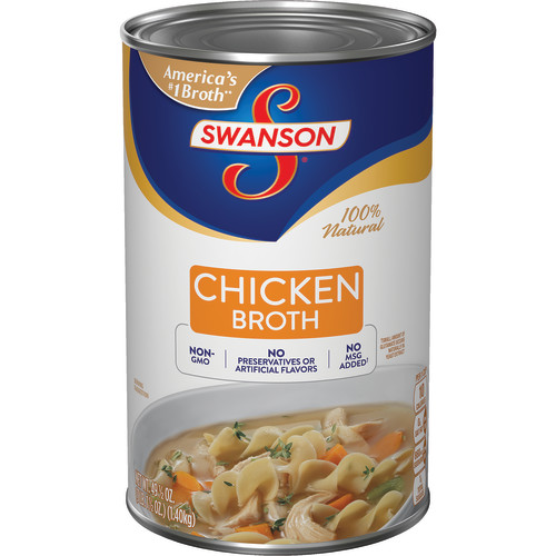 Swanson Chicken Broth, 49.5 oz. Can