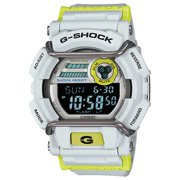 GD400DN-8 Men's G-Shock Digital Black and White Dial White and Green Resin Strap Alarm Dive Watch
