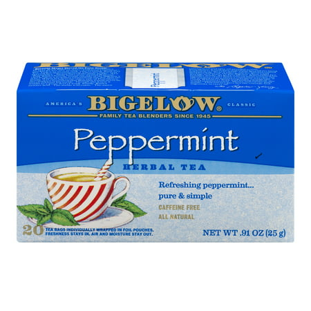 (3 Boxes) Bigelow® Peppermint Herbal Tea Bags 20 ct (Peppermint Vanilla Tea)