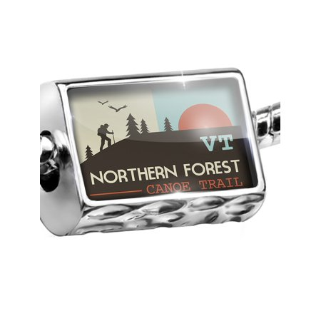 Bead US Hiking Trails Northern Forest Canoe Trail - Vermont Charm Fits All European
