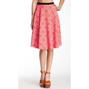 Bobeau NEW Red White Women's Size Small S Fit & Flare A-Line Midi Skirt