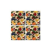 McGowan TT00440 Tuftop Fruit Collage Coasters Set of 4