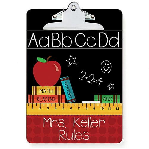 Personalized Teachers Rule Clipboard