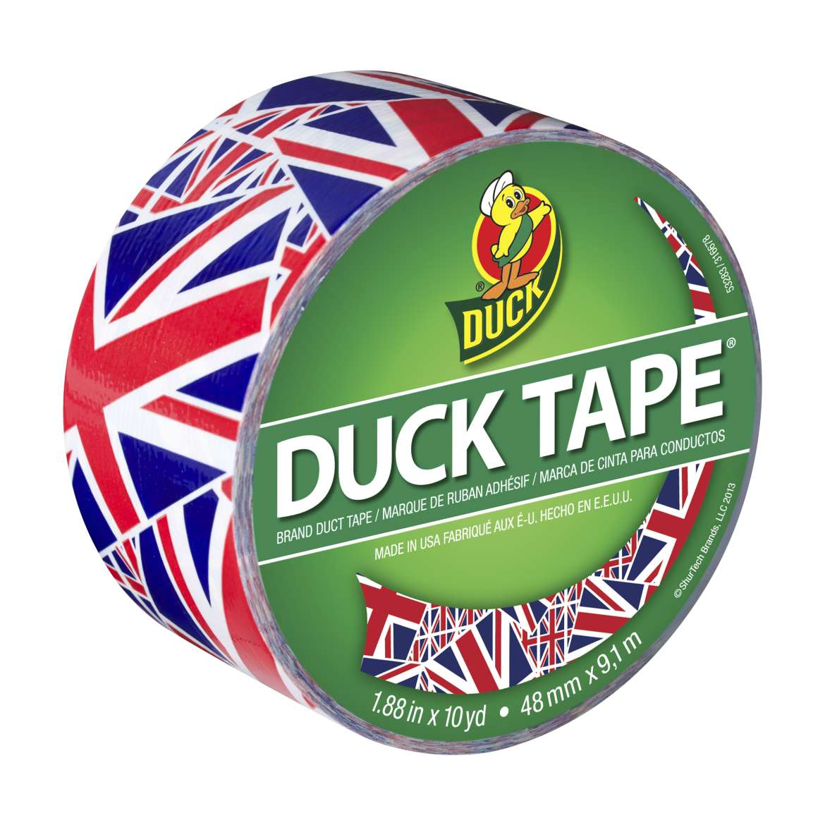 Duck Brand Duct Tape, 1.88 in. x 10 yds., Union Jack