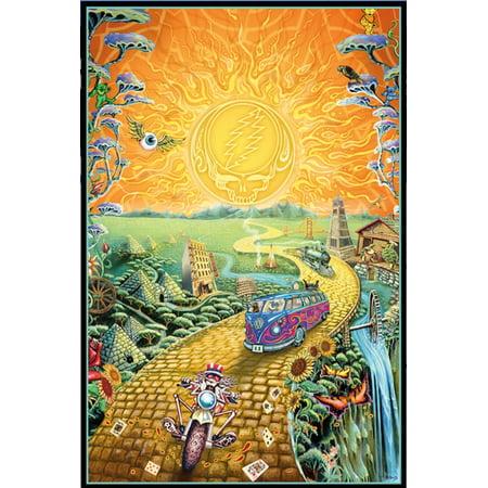 Grateful Dead Golden Road Music Art Print Poster 24x36 inch