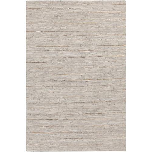 3.25' x 5.25' Masonry Magic Slate Gray and Sandy Brown Area Throw Rug