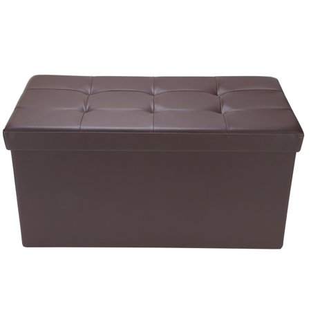 Homegear 30 Quot Folding Storage Ottoman Footstool Bench