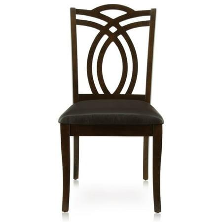 Furniture of America Lafayette Dining Chair in Dark Walnut (Set of 2)
