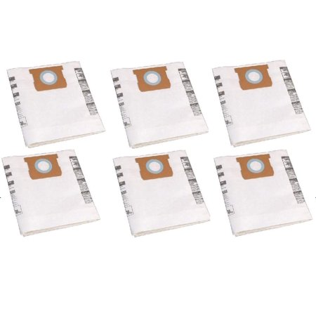 Shop-Vac 9066200 10-14 Gallon Disposable Collection Filter Bag, 6-Pack