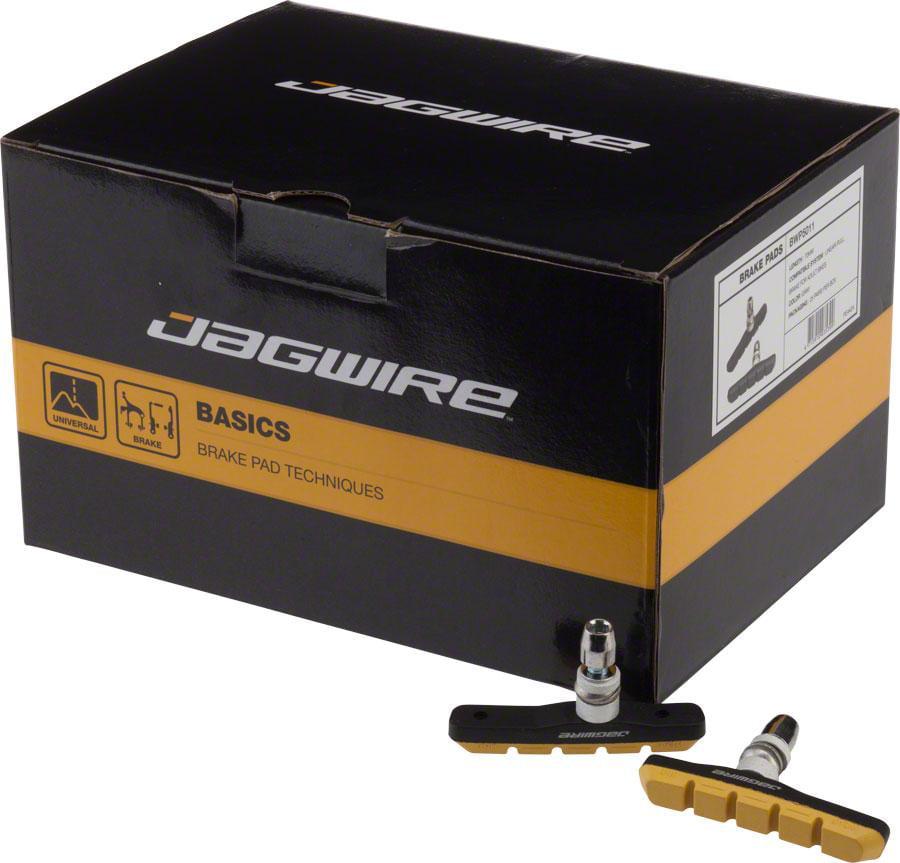 Jagwire Mountain Sport Brake Pads Threaded Post Box of 25 Pair, Yellow