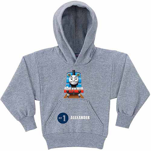 Personalized Thomas and Friends No. 1 Boys' Gray Hoodie