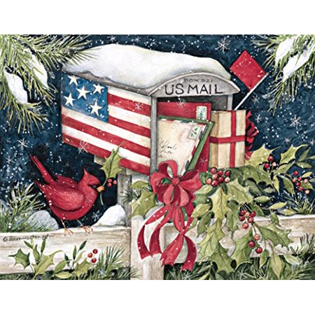 Lang 5.375 x 6.875 Inches Perfect Holiday Mail Box Boxed Christmas Card, 18 Cards with 19 Envelopes (1004730) ()