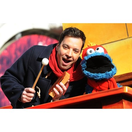 Jimmy Fallon Cookie Monster In Attendance For MacyS Thanksgiving Day Parade Manhattan New York Ny November 28 2013 Photo By Kristin CallahanEverett Collection Celebrity