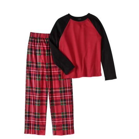 Komar Boys' Kids Holiday Plaid 2pc Pajama Set
