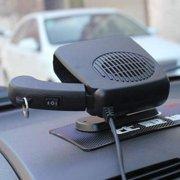 Coolmade Portable Car Heater, 12V Fast Heating Car Defroster Heater with Hidden Handle and 360° Adjustable Base, Plug In Cigarette Lighter