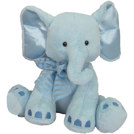 First Amp Main Plush Stuffed Blue Elephant 8 Quot Sitting