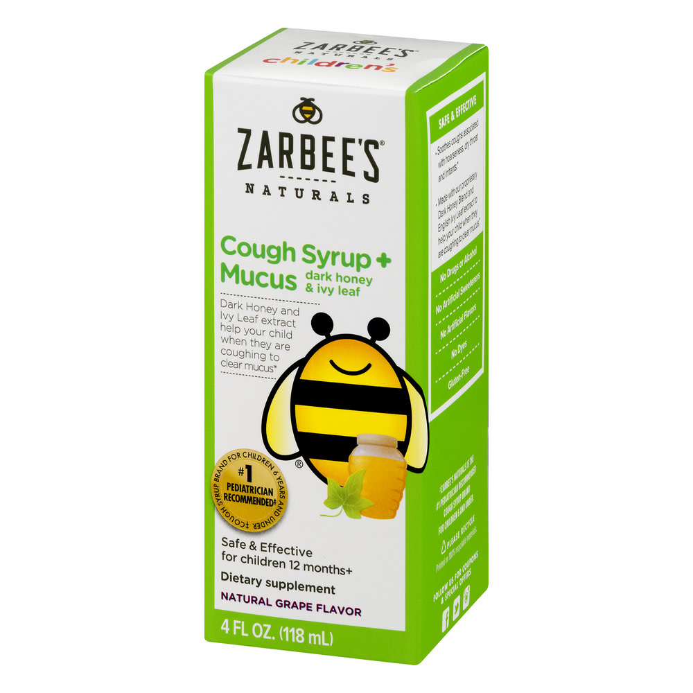 Zarbee's Naturals Children's Cough Syrup + Mucus with Dark Honey & Ivy...