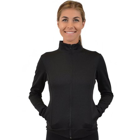 Women's Cotton Cadet Warm Up Jacket - Small (0-2) / Black Small Jacket Coat