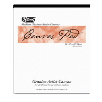 Sax Genuine Primed Canvas Pad, 12 x 16 Inches, White, 10 Sheets/Pad