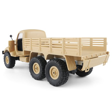 JJRC Q60 1:16 2.4G 2CH 6WD Remote Control Tracked Off-Road Military Truck RC Car RTR  Brush motor Birthday Gifts - image 11 de 12