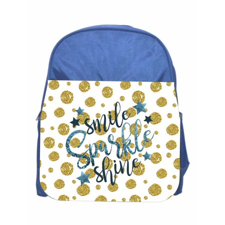 - Smile Sparkle Shine Girls Blue Preschool Toddler Childrens Backpack & Lunchbox
